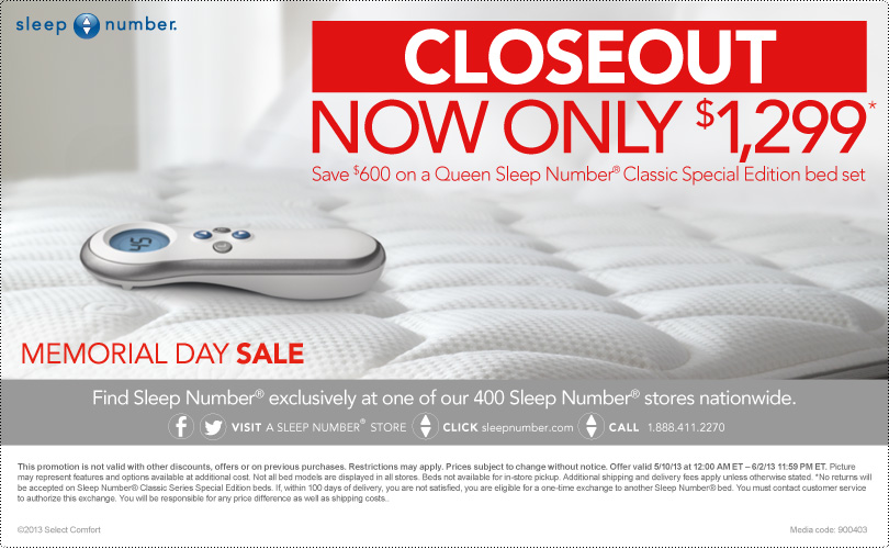 Sleep Number Coupon - Embracing Beauty